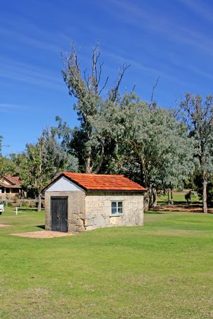 Cottage Farm House Shed in the Summer  photo