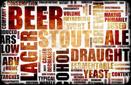 Beer Related Text Design Element as Background Stock Photo - 4899491