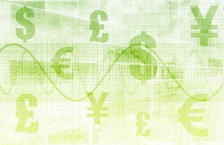 monetary: Global Currencies as a Financial Art Background Stock Photo