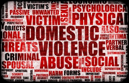 Domestic Violence Abuse in Many Forms Background Stock Photo - 4944646