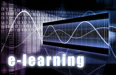 distance: E-Learning Online Web Tech as Abstract Background