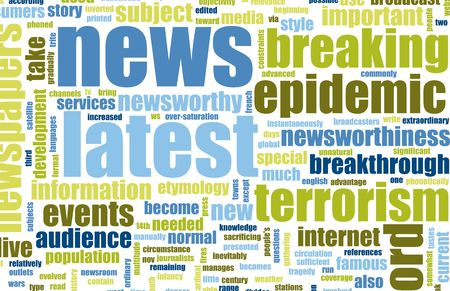 Latest News Headlines Background Sign as an Art Stock Photo - 4968948