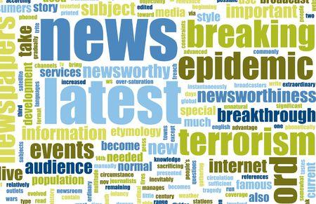 information medium: Latest News Headlines Background Sign as an Art