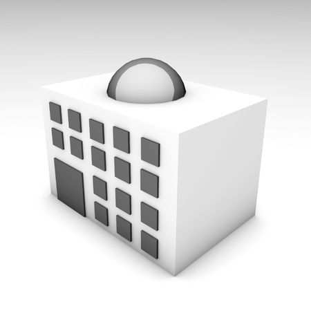 3d art: White Hotel Ilustraci�n Hecho en 3D Arte Foto de archivo