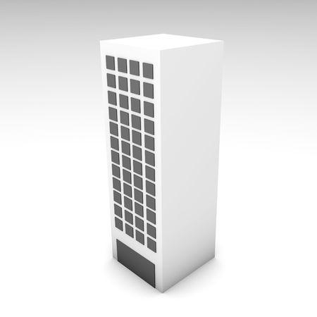 Office Building in 3d Clip Art Illustration Stock Illustration - 4991734