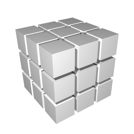 3D Cube Isolated Simple and Clean on White Stock Photo - 4991742