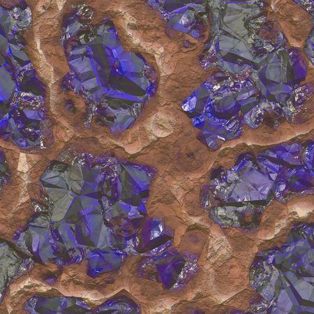 Sapphire Piedras descubran En una cantera de Minas Foto de archivo - 4991738