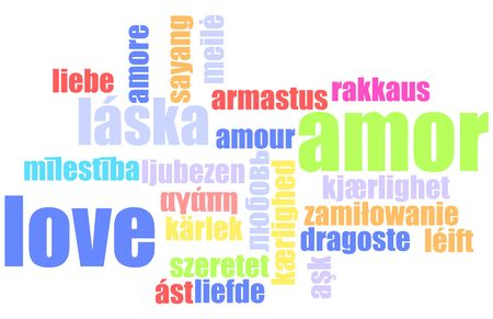 Love in Many Languages Text Abstract Background Stock Photo - 5020808