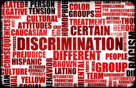 discriminacion: Discriminaci�n concepto creativo Grunge como Arte Foto de archivo