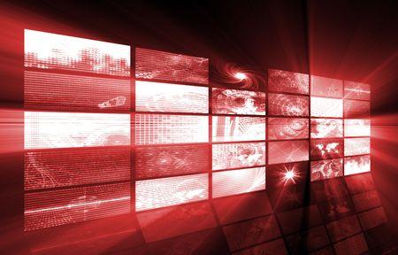 Futuristic Web Cyber Data Grid Color Background Stock Photo - 5050689