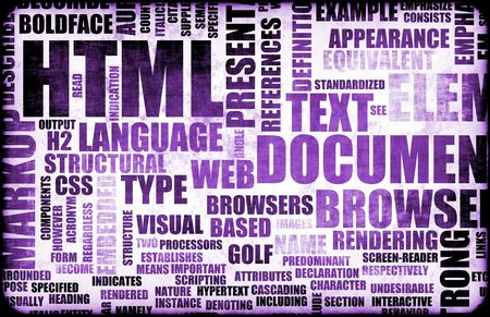 Purple HTML Script Code as a Background photo