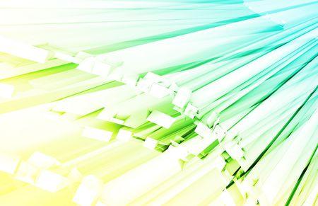 fiber optic: Fiber Optics Technology as a Concept Art Stock Photo