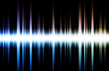 Soundwave Digital Graph as Clip Art Abstract Stock Photo - 5059409