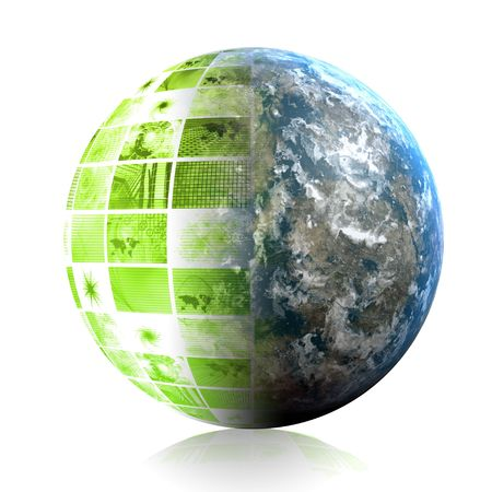 Green Global Business Technology as a Abstract photo