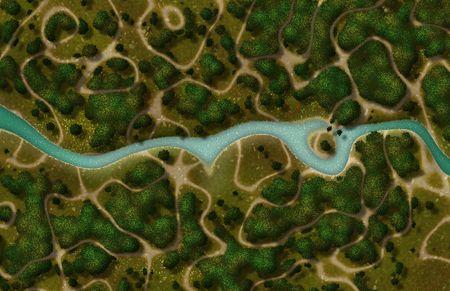 trails: River Trail Cartoon Map as a GPS View