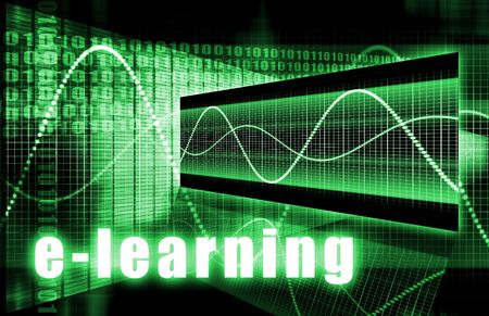 virtual classroom: E-Learning Online Web Tech as Abstract Background