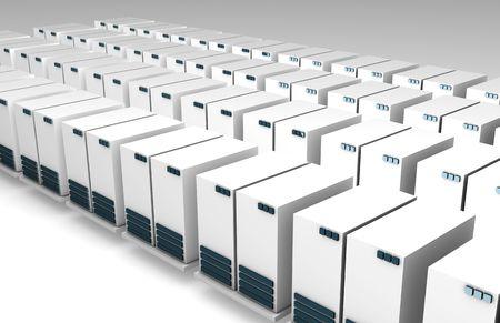 warehousing: Data Servers as a Web Background on White