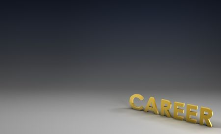 increasing: Career Job Focus in 3d on Corporate Background Stock Photo