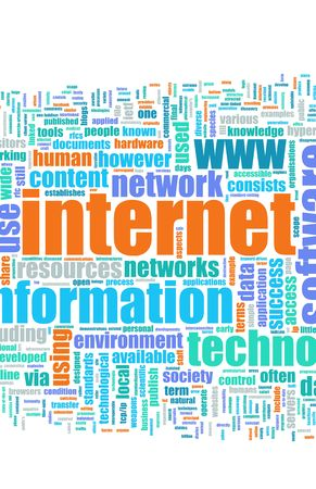 Internet Text Cloud as a Abstract Background Stock Photo - 5158625