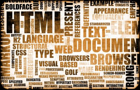HTML Script Code as an Education Background Stock Photo - 5186238