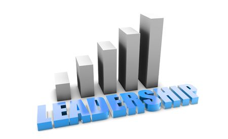 Leadership in 3d With Business Graph Chart Stock Photo - 5209384