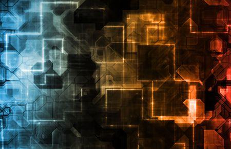 presentational: Futuristic Background Corporate Modern Tech a Art Stock Photo