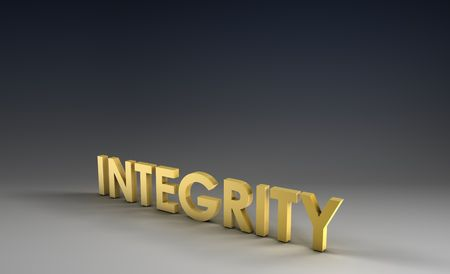 truthful: Integrity Focus on Corporate Background in 3d Stock Photo