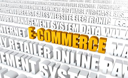infotech: Electronic Commerce or E-Commerce as a Concept Stock Photo