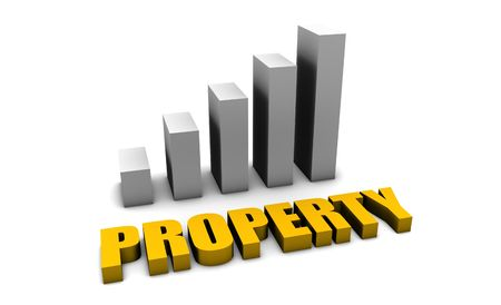 Property Value in 3d with Bar Graph Chart photo