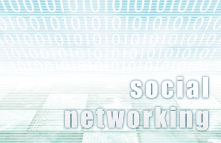conventions: Social Networking on a Clear Blue Tech Background