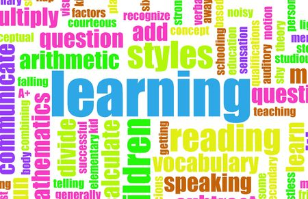 Learning is Fun Vocabulary Elementary School Art Stock Photo - 5260303