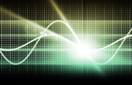 Abstract Technology Background With a Glowing Map Stock Photo - 5268098