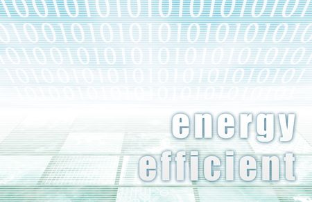Energy Efficient on a Clear Blue Tech Background Stock Photo - 5287582