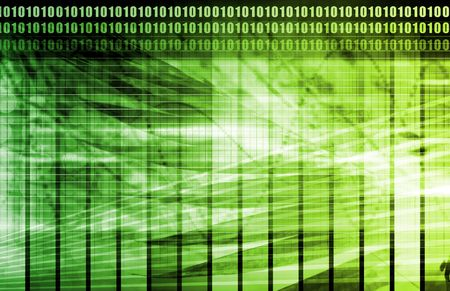 green grid: Green Computer Technology as Backdrop with Lines Stock Photo