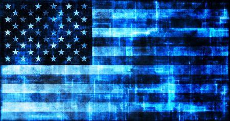 A Virtual America USA Flag Online Technology Stock Photo - 5296756