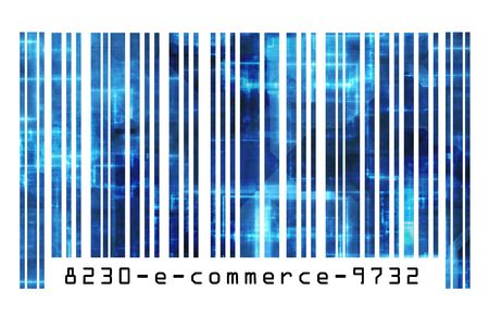 convenient store: Online Shopping E-commerce on the Internet Barcode