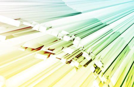 streaking: Fiber Optics Technology as a Concept Art Stock Photo