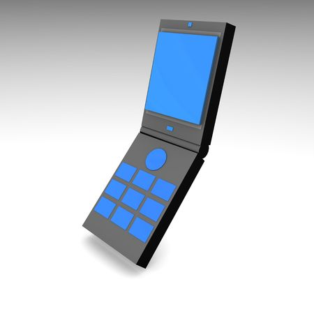 cel: Mobile Phone in 3d and Black Blue Stock Photo