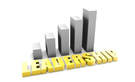 Leadership in 3d With Business Graph Chart Stock Photo - 5307745