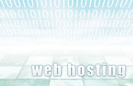 webhost: Webhosting on a Clear Blue Tech Background