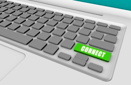 Easy Connect with a Green Keyboard Button photo