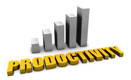 生産性: 3 d で作業所オフィスにおける知的生産性 写真素材