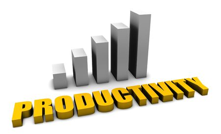 productividad: Productividad en el lugar de trabajo Oficina en 3D Foto de archivo