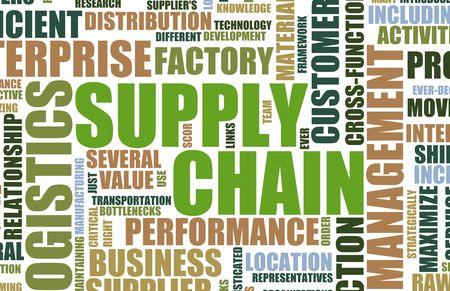leveringen: Supply Chain Management achtergrond als Design Art