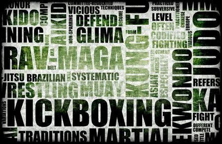 disciplines: Kickboxing Martial Arts als Fighting Style Stockfoto