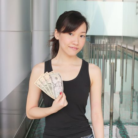 Show me the Money Concept with Asian Girl Stock Photo - 5310023