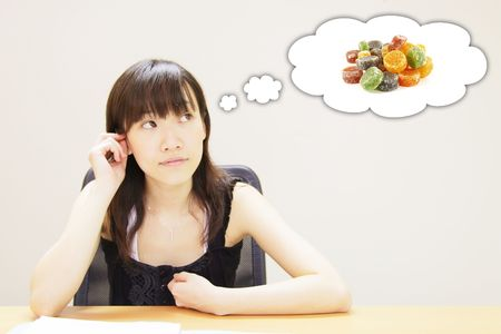 Thinking or Dreaming of Candy Sweets Thoughts Stock Photo - 5310032