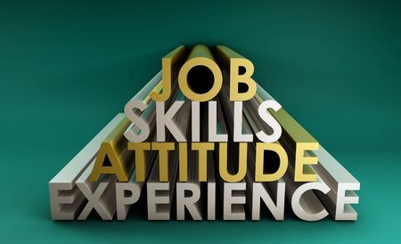 Business Skills for a Job Career in 3d photo