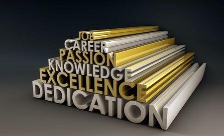 Business Skills à un emploi de carrière en 3d Banque d'images - 5314095