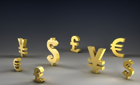 currency symbols: Foreign Exchange on Forex Market World Currencies
